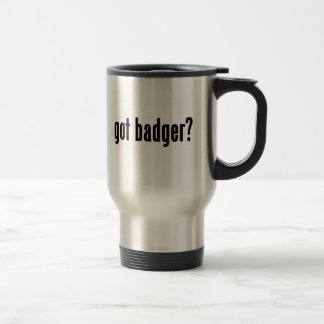 got badger? travel mug