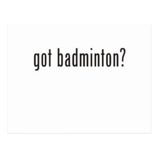 got badminton? postcard