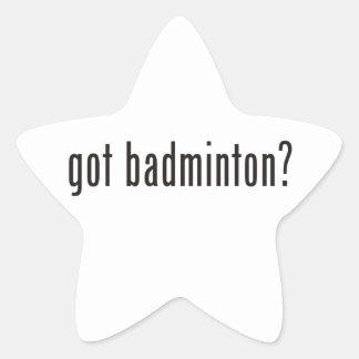 got badminton? star sticker