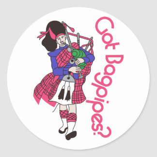 Got Bagpipes? Classic Round Sticker