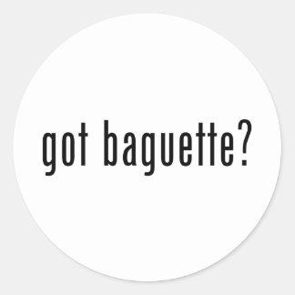 got baguette? classic round sticker