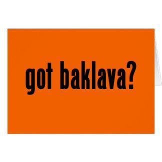 got baklava? card