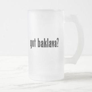 got baklava? frosted glass beer mug