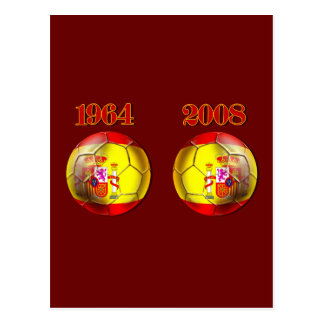 Got Balls ? Spain 1964 and 2008 Champions balls Postcard