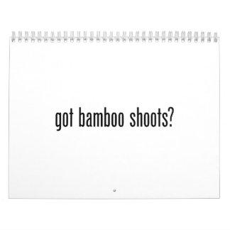 got bamboo shoots wall calendars