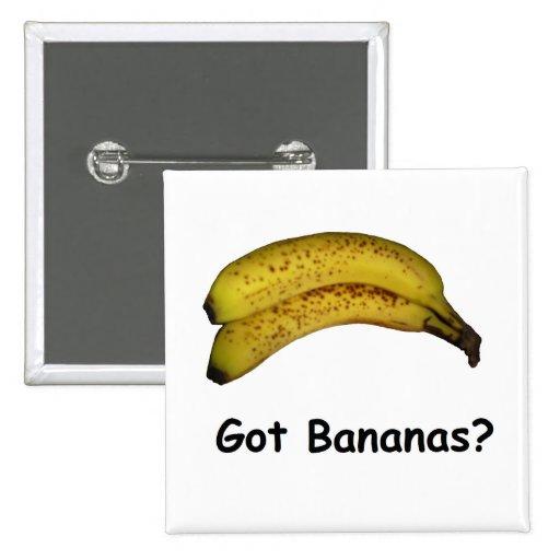 Got Bananas 2 Inch Square Button