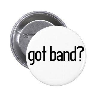got band? pinback button