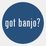 got banjo? classic round sticker
