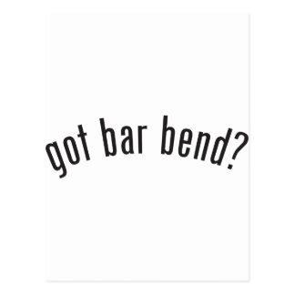 got bar bend? postcard