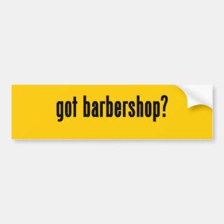 got barbershop? bumper sticker