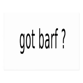 GOT BARF POSTCARD
