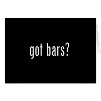 got bars? black note card