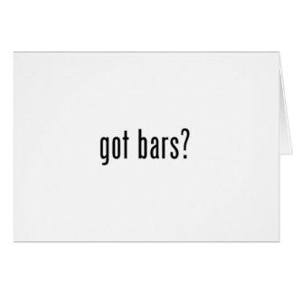 got bars? white greeting card