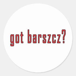 got barszcz? classic round sticker