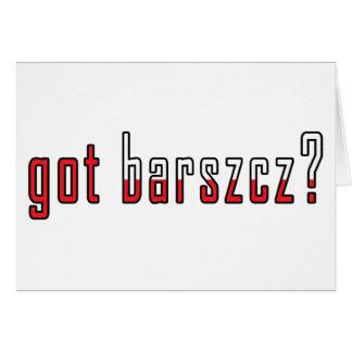 got barszcz? Flag Card