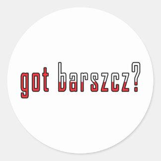 got barszcz? Flag Classic Round Sticker