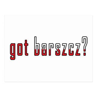 got barszcz? Flag Postcard