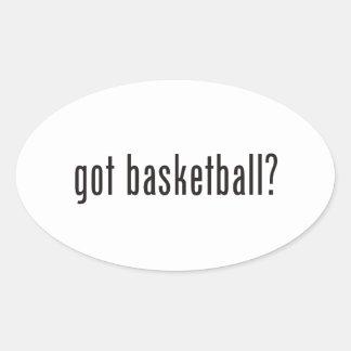 got basketball? oval sticker