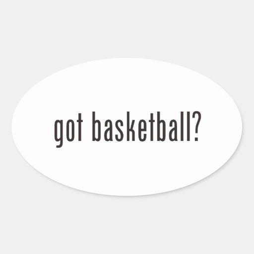 got basketball? oval stickers