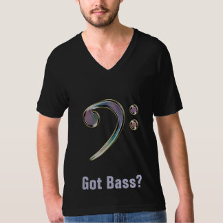 Got Bass? Rainbow Bass Clef Music Tee ~ Dark
