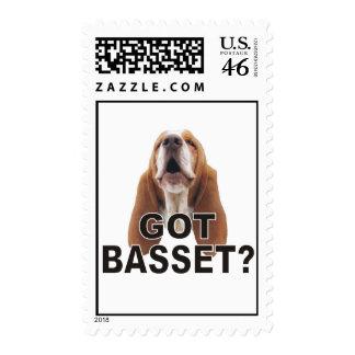 Got Basset Howling Basset Hound Stamp