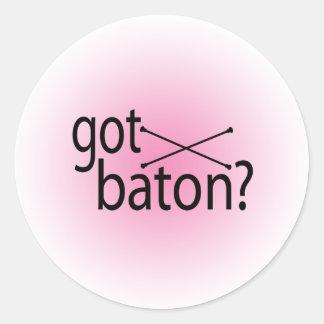 got baton? classic round sticker