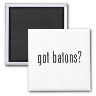 got batons? 2 inch square magnet