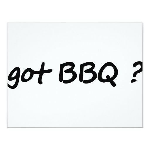 got BBQ icon 4.25x5.5 Paper Invitation Card