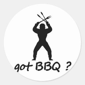 got BBQ? icon Classic Round Sticker