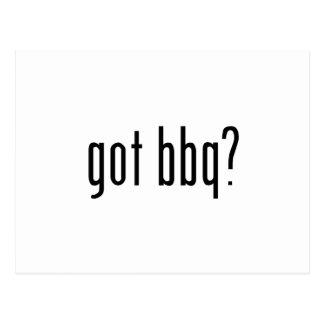 got bbq? postcard