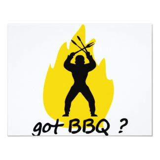 got BBQ? with flame icon Custom Announcement
