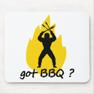 got BBQ? with flame icon Mouse Pad