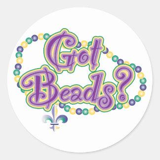 Got Beads? Classic Round Sticker