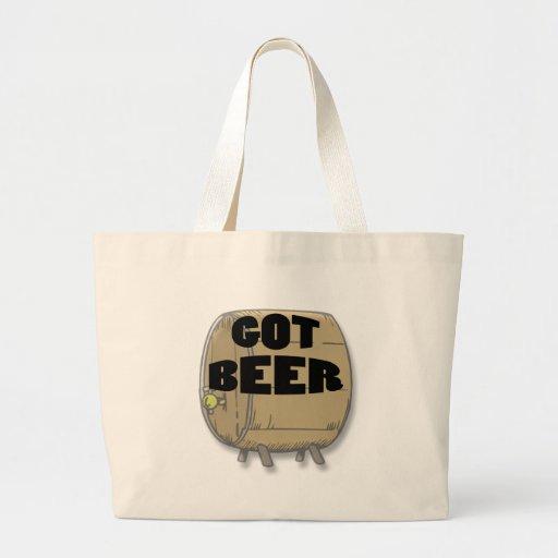 Got Beer black Canvas Bags