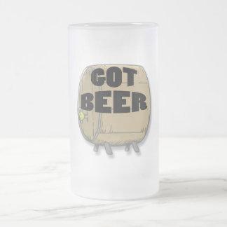 Got Beer black Frosted Glass Beer Mug