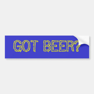 GOT BEER? CAR BUMPER STICKER