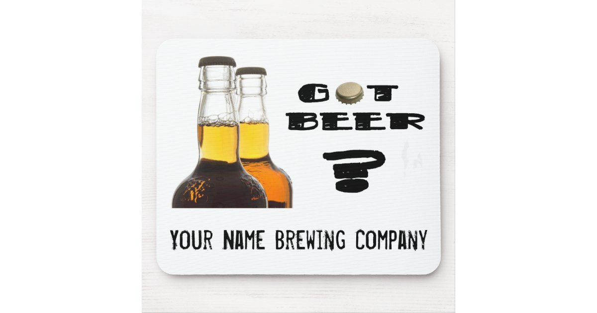 got beer u brew or brewing company mouse pad zazzle. Black Bedroom Furniture Sets. Home Design Ideas