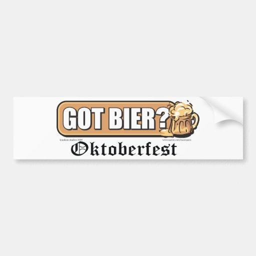 Got Bier - Car Bumper Sticker