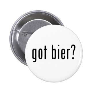 got bier? pinback button