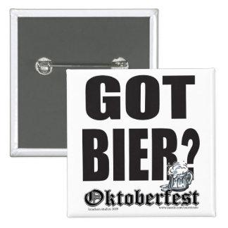 Got Bier? Pinback Buttons