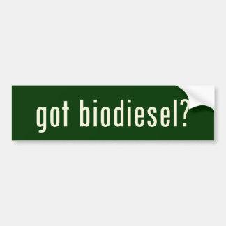 got biodiesel? bumper sticker