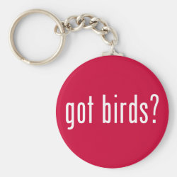 Basic Button Keychain with got birds? design