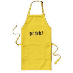 Long Apron with got birds? design