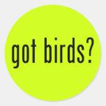 got birds? round stickers