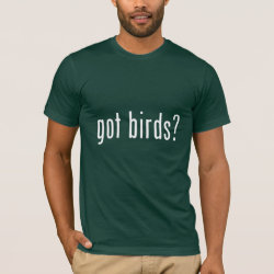 Men's Basic American Apparel T-Shirt with got birds? design