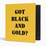 GOT BLACK AND GOLD? VINYL BINDERS