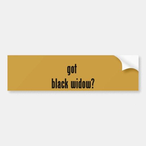 got black widow? bumper sticker