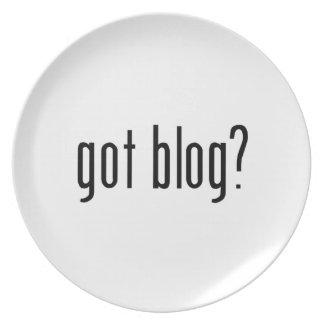 got blog? melamine plate