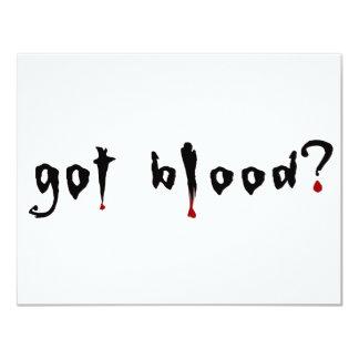 got blood? custom announcements