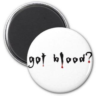 got blood? 2 inch round magnet
